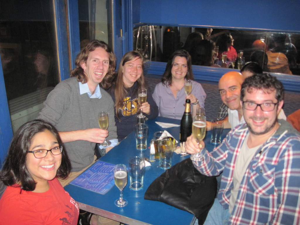 Love Symbol celebrate their first Pub Quiz win
